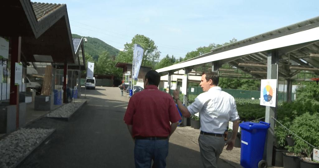 Stevens Senn makes a campus tour for Regio TV Plus