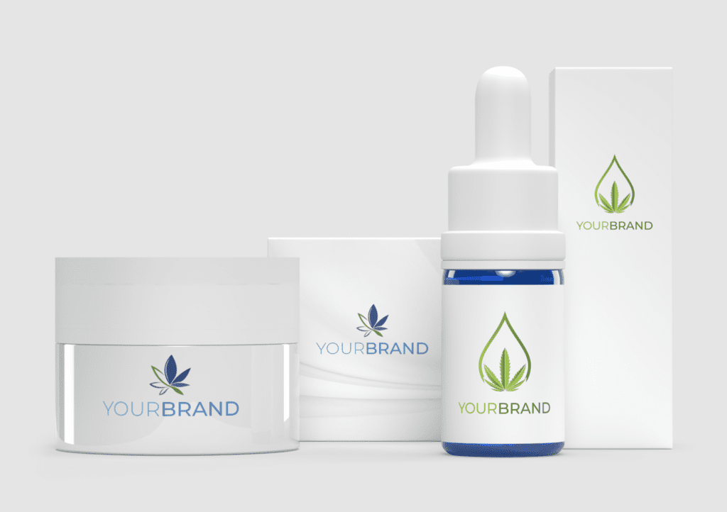 Pure Production White Label Packshot - Balm and CBD Oil
