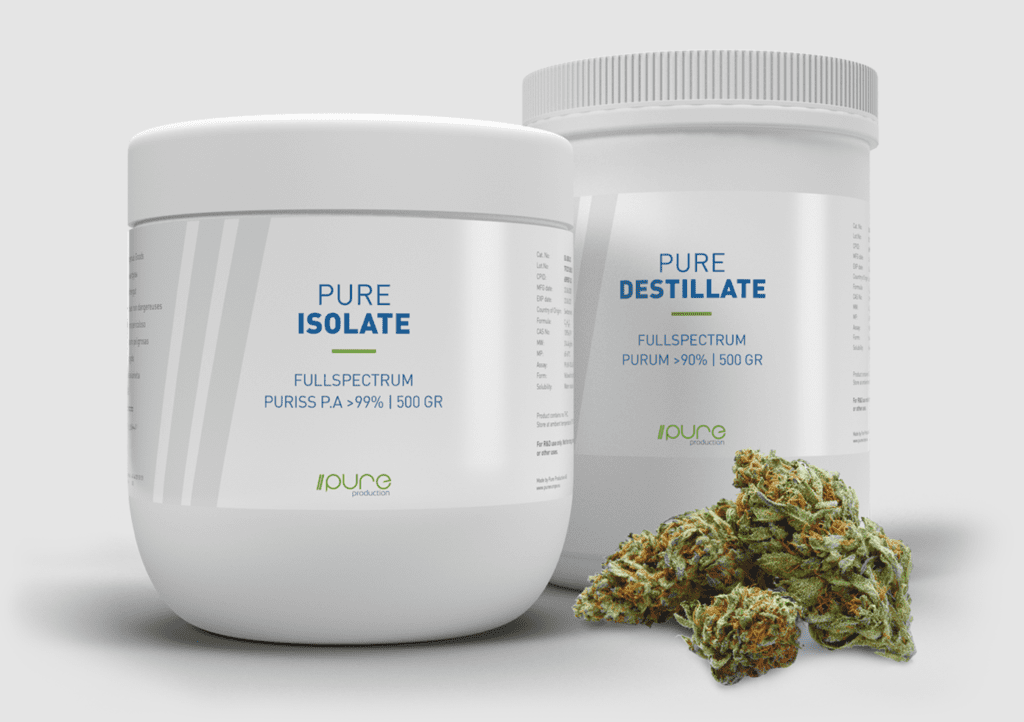 Pure Production - Cannabis Raw Material - Isolate - Destillate - Flowers