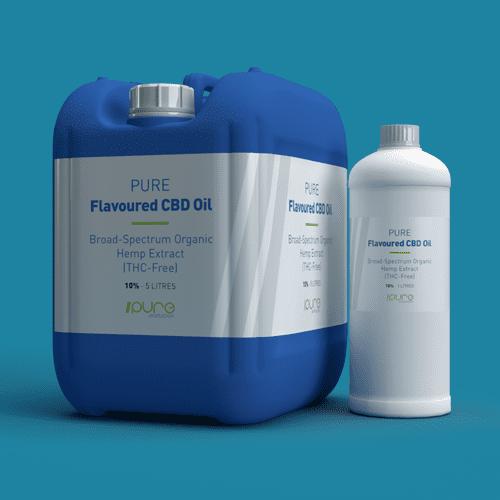 Pure Production Bulk Packshot - Flavoured CBD Oil