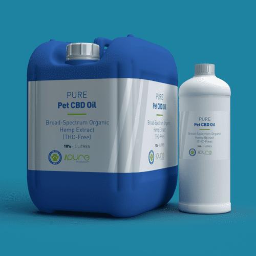 Pure Production Bulk Packshot - PET CBD Oil